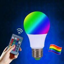 🏳️🌈💡4 X CHANGING MAGIC BULB LAMP 16 COLORS LIGHT 3W RGB LED & REMOTE NIB