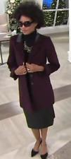 Susan Graver Faux Wool Boyfriend Coat, Herringbone, Size XXS
