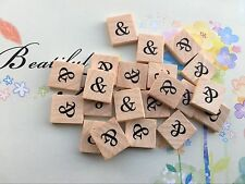 "10 Symbol ""&"" Beautiful Scrabble Tiles Letters, Individual, Hot Press Paint USA!"