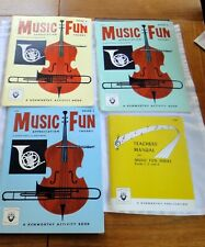 Vintage Music Fun Appreciation Series Theory Books 1, 2 and 3 &Teacher's Manual