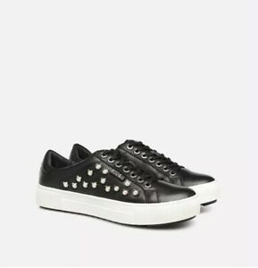 KARL LAGERFELD Luxor Kup Cat Pearl Lace Up Trainers UK 7 EU 40 RRP £175