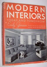 MODERN INTERIORS, 1939, EMILY GENAUER, RENOWNED ART CRITIC, 1ST EDTION, NEW YORK
