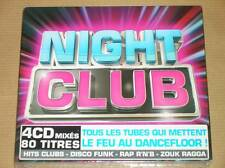 BOX 4 CD /  NIGHT CLUB / 80 TITRES DANCEFLOOR MIXES / NEUF SOUS CELLO