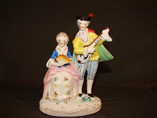 "*Vintage OCCUPIED JAPAN Couple Figurine Man Courting Woman Victorian  53/4""T VC1"