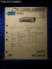 Sony Service Manual MDS J3000 /J3000ES Mini Disc Deck (#6271)