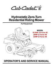Cub Cadet Zero Turn Z-Force 42-44-48 Operator and Service Manual