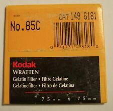 Kodak wratten GELATINA Filtro N º 85c Kodak 7.6cm OR 75mm Cuadrado