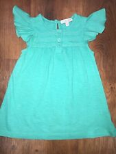 Baby Girls Jade Green Top T Shirt Age 18-24 Months. 100% Cotton. M&S. Used