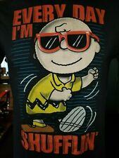 Every Day I'm Shufflin' Charlie Brown Peanuts Comics black medium t-shirt, LMFAO