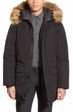 NEW $1250 VINCE CAMUTO Mens Black DOWN HOODED PARKA JACKET WINTER COAT SIZE 2XL