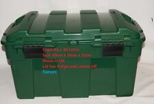 Heavy Duty Green Garden Storage Chest with Lid / Garden Recycling Storage Tub