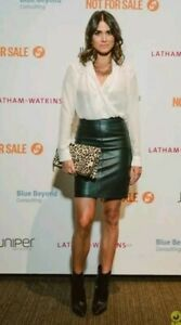 All Saints Lucille Leather Skirt With Zip Size UK 6 2034-B9
