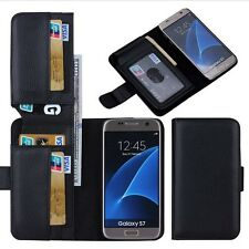 New Wallet 7 card Cash Holder Flip Leather Case Cover For Samsung Galaxy S7 Edge