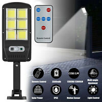 Outdoor 120000LM Solar Street Light Motion Sensor Dusk-to-Dawn Wall Lamp +Remote