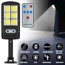 Outdoor 120000LM Solar Street Light Motion Sensor Dusk-to-Dawn Wall Lamp +Remote
