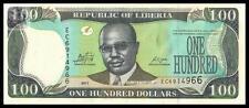 Liberia 100 Dollars 2011 year BrandNew Banknotes