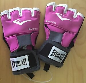 Everlast Women Evergel Hand Wraps Elite Training Gloves Size M Fuchsia
