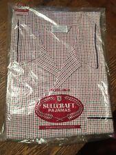 Vtg Mip Men's Plaid Pajamas Cotton/Polyester Long Sleeve & Leg Xl