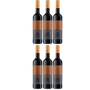 6x WV Freyburg-Unstrut Dornfelder Rotwein Wein halbtrocken Deutschland