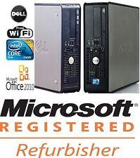 Dell Optiplex 780 SFF Core 2 Duo 3.0 Ghz 4GB 160GB Windows 10 & Office Pro Wifi
