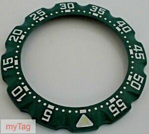 TAG Heuer Midsize  33mm F1 Green Bezel       Model No.384.513
