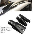 for Toyota RAV4 XA30 2006-2012 Black F&R Roof Rack Rail End Cover Shell Cap 4pcs