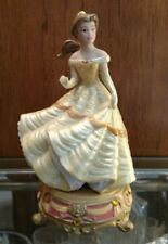 Disney's Beauty and The Beast Belle Porcelain Figurine with Jewel Base *Rare*