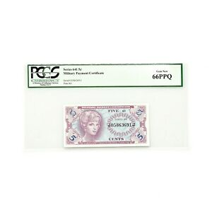 US MPC Series 641 5 Cents PCGS 66 Gem New PPQ
