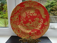 "Royal Crown Derby Aves Gold (red) 1235  8.5"" Plate, New Unused"