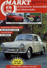 0052OM Oldtimer Markt 1988 12/88 Aero Fiat X1/9 Bagheera Universal Meteor VW