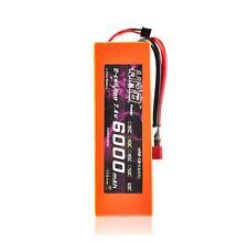 HRB RC Lipo Battery 6000MAH 7.4V 60C Hard Case Traxxas Car Orange Bateria