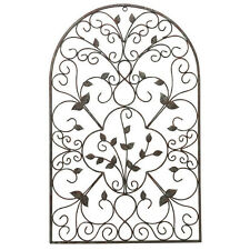 Spanish Wall Art Arch Vintage Decor Scroll Metal Indoor Outdoor Patio Fence Yard
