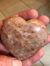 Sunstone Crystal Mineral Gemstone Artisan Hand Carved Heart Specimen 001
