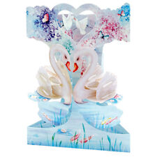 3D Swing Cards by Santoro - LOVE SWANS - SG-SC-177