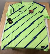 FC Barcelona Warm Up Jersey XL Green NWT 2016/2017 New with Tags