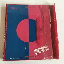 Vtg Trapper Keeper Mead Pink Blue Keepin' Tabs Folio Binder 1991 Folders 3 Ring