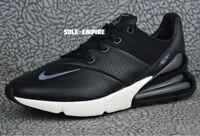 Nike Air Max 270 Premium Leather AO8283-001 Men's NEW IN BOX Black Carbon Sail