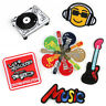 DIY Music Guitar Embroidered Sew Iron On Badge Patches Clothing Fabric Applique