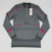 Adidas Stella McCartney Gray Pink Sweatshirt Train SL LS DM7603 Womens L Sweater
