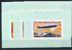 Mauretanien 539/44 postfrische Sonderblöcke / Zeppelin ...................2/2409