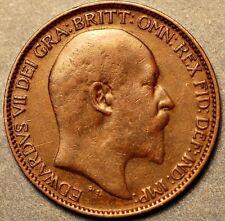 1910 United Kingdom. Farthing Edward VII Dei Gratia  A258
