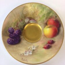 Antique Royal Worcester Miniature Saucer Painted Fruit William Ricketts 9.5cm