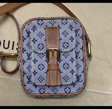 LOUIS VUITTON Monogram Mini Juliet PM Shoulder Bag Blue Denim 💯 Authentic ❤️
