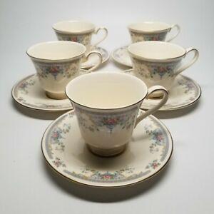 Royal Doulton JULIET Romance Collection H5077 Set of 5 Tea Cup & Saucers (AS IS)