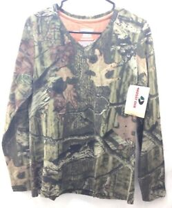 Mossy Oak Break-Up Infinity Camo Long Sleeve Shirt Women Size Large - Fallen Tag