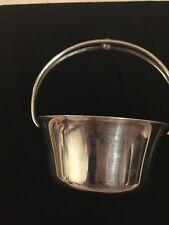 Small silver metal decorative basket cute