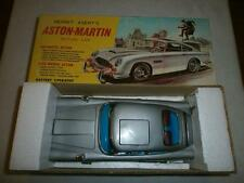 GILBERT JAMES BOND ASTON MARTIN TIN PLATE BATTERY OPERATED CAR BOXED WORKING