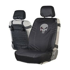 Chris Kyle American Sniper Tactical Seat Cover, Pockets Black Skull