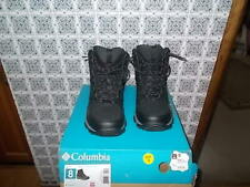 MEN'S COLUMBIA LIFTOP11 THERMAL COIL WATERPROOF HIKING BOOTS BLACK SZ 8M NEW