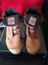 New.. PALLADIUM BOOTS SHOES HI TOP TRAINERS UK 4.5 Brown